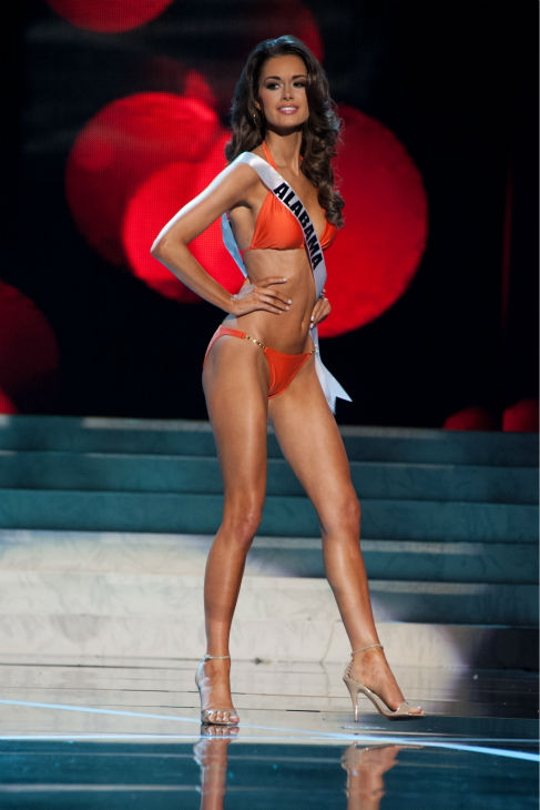 Miss Alabama USA 2013, Mary Margaret McCord, 23, competes in her ViX Paula Hermanny swimsuit and Chinese Laundry shoes during the 2013 MISS USA Competition Preliminary Show at PH Live in Las Vegas, Nevada on Wednesday, June 12, 2013.  <span class=meta>(Patrick Prather &#47; Miss Universe Organization L.P.)</span>