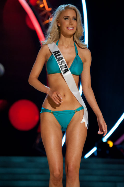 Miss Alaska USA 2013, Melissa McKinney, 26, competes in her ViX Paula Hermanny swimsuit and Chinese Laundry shoes during the 2013 MISS USA Competition Preliminary Show at PH Live in Las Vegas, Nevada on Wednesday, June 12, 2013.  <span class=meta>(Patrick Prather &#47; Miss Universe Organization L.P.)</span>