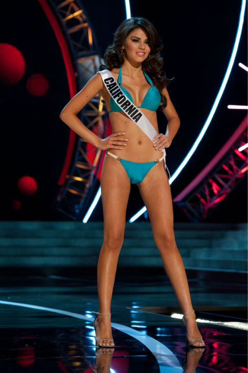 Miss California USA 2013, Mabelynn Capeluj, 21, competes in her ViX Paula Hermanny swimsuit and Chinese Laundry shoes during the 2013 MISS USA Competition Preliminary Show at PH Live in Las Vegas, Nevada on Wednesday, June 12, 2013.   <span class=meta>(Patrick Prather &#47; Miss Universe Organization L.P.)</span>