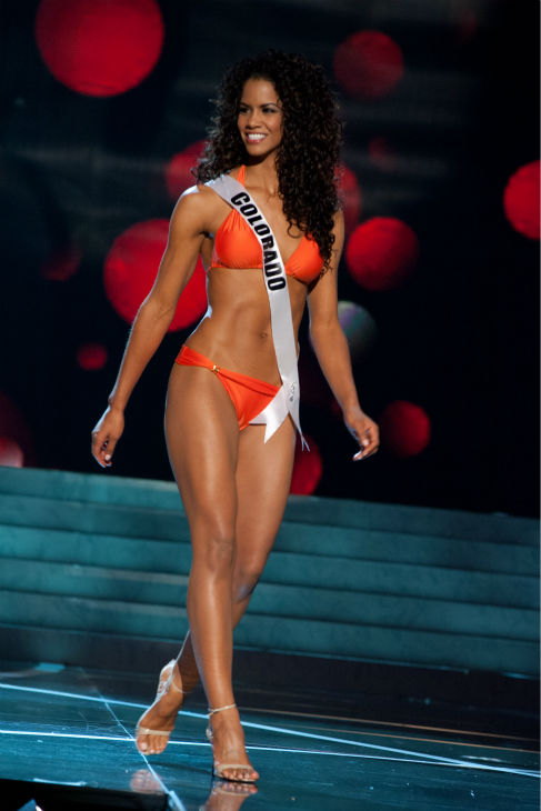 "<div class=""meta image-caption""><div class=""origin-logo origin-image ""><span></span></div><span class=""caption-text"">Miss Colorado USA 2013, Amanda Wiley, 26, competes in her ViX Paula Hermanny swimsuit and Chinese Laundry shoes during the 2013 MISS USA Competition Preliminary Show at PH Live in Las Vegas, Nevada on Wednesday, June 12, 2013.   (Patrick Prather / Miss Universe Organization L.P.)</span></div>"