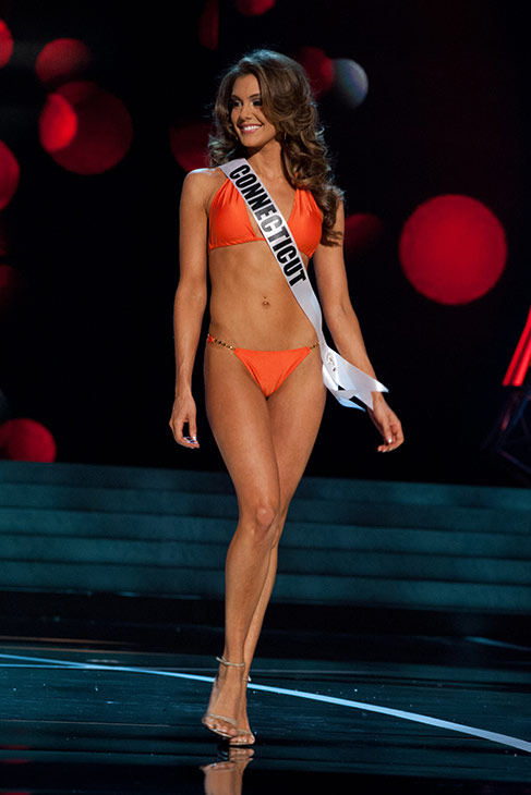 Miss Connecticut USA 2013, Erin Brady, 25, competes in her ViX Paula Hermanny swimsuit and Chinese Laundry shoes during the 2013 MISS USA Competition Preliminary Show at PH Live in Las Vegas, Nevada on Wednesday, June 12, 2013.   <span class=meta>(Patrick Prather &#47; Miss Universe Organization L.P.)</span>