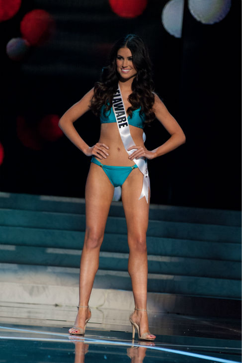 "<div class=""meta ""><span class=""caption-text "">Miss Delaware USA 2013, Rachel Baiocco, 22, competes in her ViX Paula Hermanny swimsuit and Chinese Laundry shoes during the 2013 MISS USA Competition Preliminary Show at PH Live in Las Vegas, Nevada on Wednesday, June 12, 2013.    (Patrick Prather / Miss Universe Organization L.P.)</span></div>"