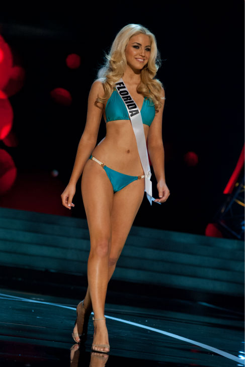 Miss Florida USA 2013, Michelle Aguirre, 20, competes in her ViX Paula Hermanny swimsuit and Chinese Laundry shoes during the 2013 MISS USA Competition Preliminary Show at PH Live in Las Vegas, Nevada on Wednesday, June 12, 2013.    <span class=meta>(Patrick Prather &#47; Miss Universe Organization L.P.)</span>