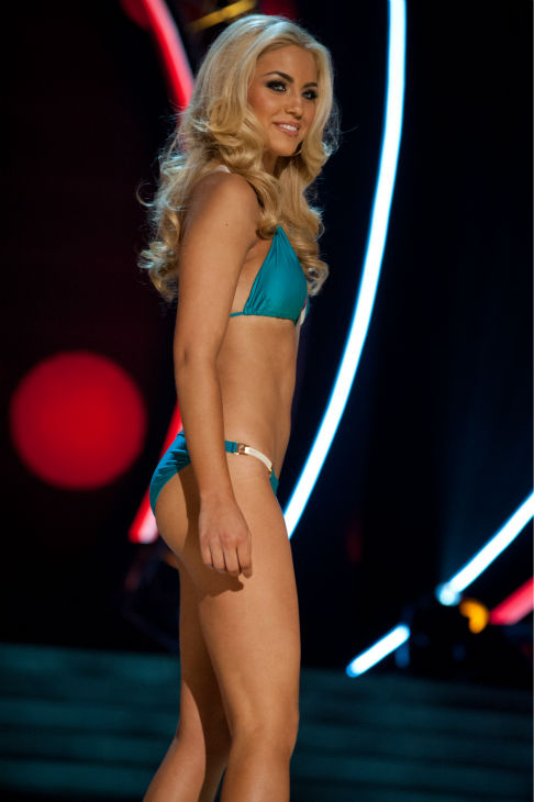 "<div class=""meta ""><span class=""caption-text "">Miss Florida USA 2013, Michelle Aguirre, 20, competes in her ViX Paula Hermanny swimsuit and Chinese Laundry shoes during the 2013 MISS USA Competition Preliminary Show at PH Live in Las Vegas, Nevada on Wednesday, June 12, 2013.    (Patrick Prather / Miss Universe Organization L.P.)</span></div>"
