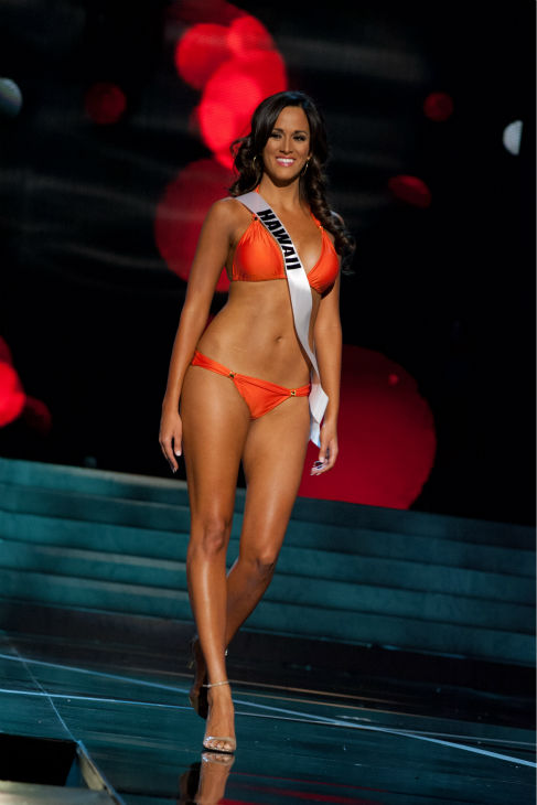 "<div class=""meta image-caption""><div class=""origin-logo origin-image ""><span></span></div><span class=""caption-text"">Miss Hawaii USA 2013, Brianna Acosta, 22, competes in her ViX Paula Hermanny swimsuit and Chinese Laundry shoes during the 2013 MISS USA Competition Preliminary Show at PH Live in Las Vegas, Nevada on Wednesday, June 12, 2013.   (Patrick Prather / Miss Universe Organization L.P.)</span></div>"