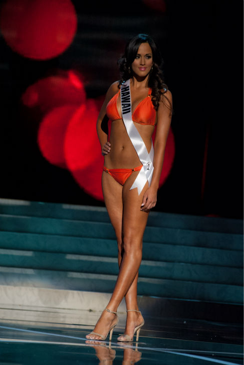 "<div class=""meta ""><span class=""caption-text "">Miss Hawaii USA 2013, Brianna Acosta, 22, competes in her ViX Paula Hermanny swimsuit and Chinese Laundry shoes during the 2013 MISS USA Competition Preliminary Show at PH Live in Las Vegas, Nevada on Wednesday, June 12, 2013.   (Patrick Prather / Miss Universe Organization L.P.)</span></div>"