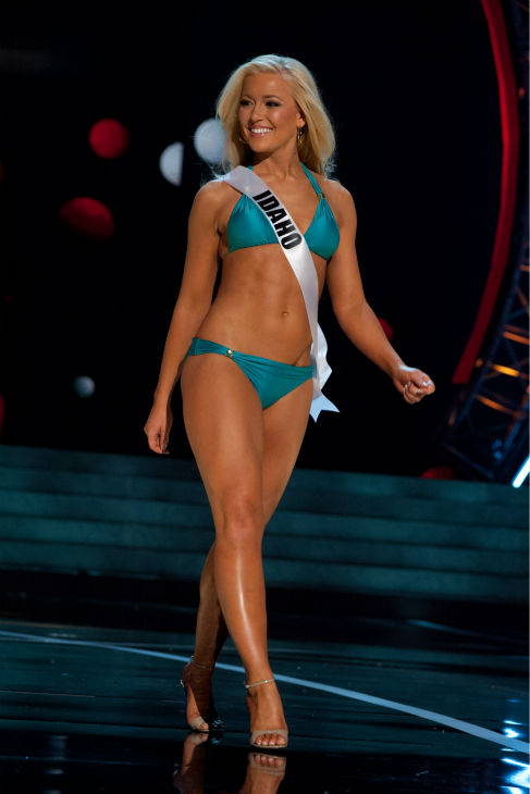 "<div class=""meta ""><span class=""caption-text "">Miss Idaho USA 2013, Marissa Wickland, 21, competes in her ViX Paula Hermanny swimsuit and Chinese Laundry shoes during the 2013 MISS USA Competition Preliminary Show at PH Live in Las Vegas, Nevada on Wednesday, June 12, 2013.   (Patrick Prather / Miss Universe Organization L.P.)</span></div>"