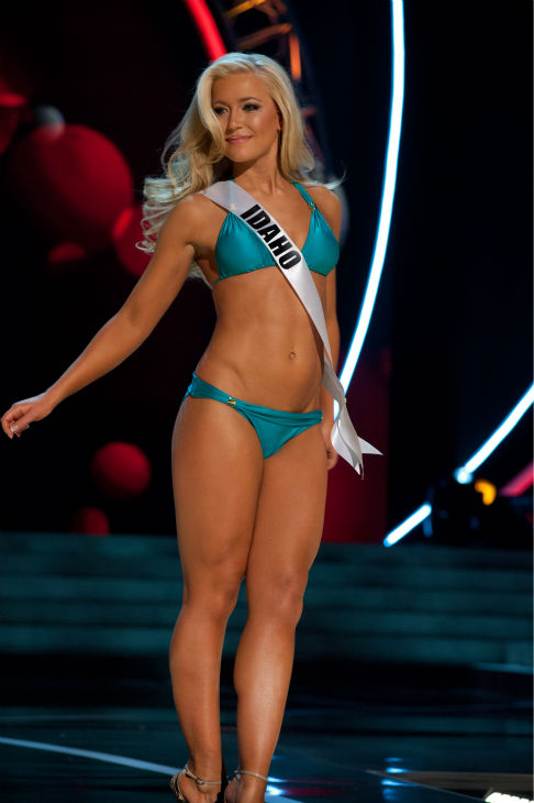 Miss Idaho USA 2013, Marissa Wickland, 21, competes in her ViX Paula Hermanny swimsuit and Chinese Laundry shoes during the 2013 MISS USA Competition Preliminary Show at PH Live in Las Vegas, Nevada on Wednesday, June 12, 2013.   <span class=meta>(Patrick Prather &#47; Miss Universe Organization L.P.)</span>