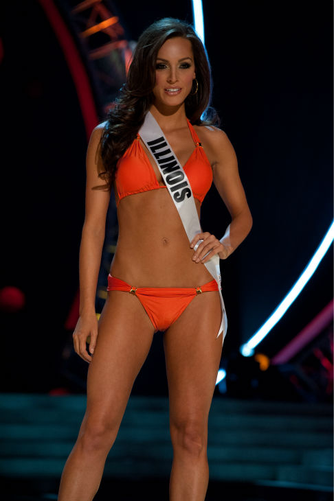 Miss Illinois USA 2013, Stacie Juris, 22, competes in her ViX Paula Hermanny swimsuit and Chinese Laundry shoes during the 2013 MISS USA Competition Preliminary Show at PH Live in Las Vegas, Nevada on Wednesday, June 12, 2013.  <span class=meta>(Patrick Prather &#47; Miss Universe Organization L.P.)</span>