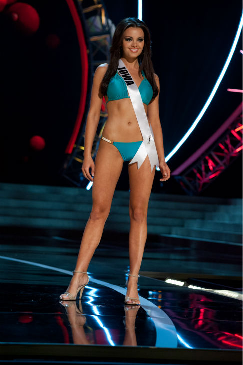"<div class=""meta ""><span class=""caption-text "">Miss Iowa USA 2013, Richelle Orr, 20, competes in her ViX Paula Hermanny swimsuit and Chinese Laundry shoes during the 2013 MISS USA Competition Preliminary Show at PH Live in Las Vegas, Nevada on Wednesday, June 12, 2013.  (Patrick Prather / Miss Universe Organization L.P.)</span></div>"