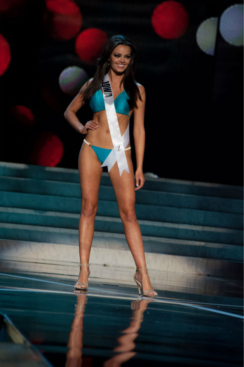 "<div class=""meta image-caption""><div class=""origin-logo origin-image ""><span></span></div><span class=""caption-text"">Miss Iowa USA 2013, Richelle Orr, 20, competes in her ViX Paula Hermanny swimsuit and Chinese Laundry shoes during the 2013 MISS USA Competition Preliminary Show at PH Live in Las Vegas, Nevada on Wednesday, June 12, 2013.  (Patrick Prather / Miss Universe Organization L.P.)</span></div>"