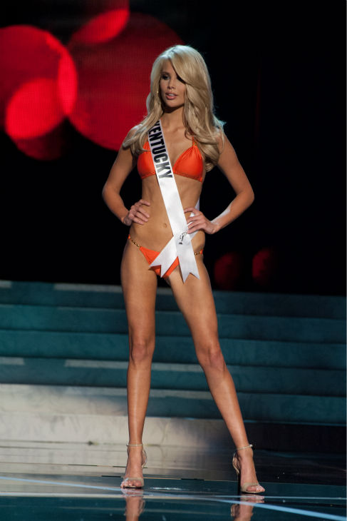 "<div class=""meta ""><span class=""caption-text "">Miss Kentucky USA 2013, Allie Leggett, 19, competes in her ViX Paula Hermanny swimsuit and Chinese Laundry shoes during the 2013 MISS USA Competition Preliminary Show at PH Live in Las Vegas, Nevada on Wednesday, June 12, 2013.  (Patrick Prather / Miss Universe Organization L.P.)</span></div>"