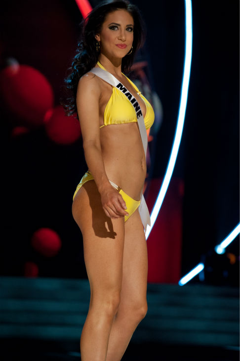Miss Maine USA 2013, Ali Clair, 24, competes in her ViX Paula Hermanny swimsuit and Chinese Laundry shoes during the 2013 MISS USA Competition Preliminary Show at PH Live in Las Vegas, Nevada on Wednesday, June 12, 2013.  <span class=meta>(Patrick Prather &#47; Miss Universe Organization L.P.)</span>