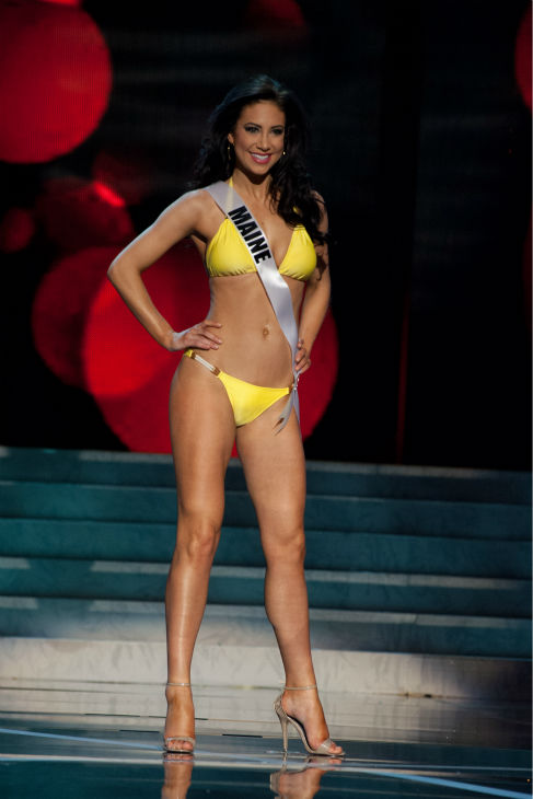 "<div class=""meta image-caption""><div class=""origin-logo origin-image ""><span></span></div><span class=""caption-text"">Miss Maine USA 2013, Ali Clair, 24, competes in her ViX Paula Hermanny swimsuit and Chinese Laundry shoes during the 2013 MISS USA Competition Preliminary Show at PH Live in Las Vegas, Nevada on Wednesday, June 12, 2013.  (Patrick Prather / Miss Universe Organization L.P.)</span></div>"