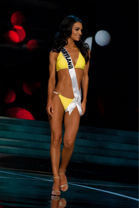 "<div class=""meta image-caption""><div class=""origin-logo origin-image ""><span></span></div><span class=""caption-text"">Miss Maryland USA 2013, Kasey Staniszewski, 22, competes in her ViX Paula Hermanny swimsuit and Chinese Laundry shoes during the 2013 MISS USA Competition Preliminary Show at PH Live in Las Vegas, Nevada on Wednesday, June 12, 2013.  (Patrick Prather / Miss Universe Organization L.P.)</span></div>"