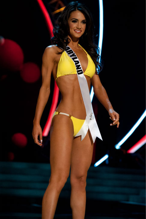 Miss Maryland USA 2013, Kasey Staniszewski, 22, competes in her ViX Paula Hermanny swimsuit and Chinese Laundry shoes during the 2013 MISS USA Competition Preliminary Show at PH Live in Las Vegas, Nevada on Wednesday, June 12, 2013.  <span class=meta>(Patrick Prather &#47; Miss Universe Organization L.P.)</span>