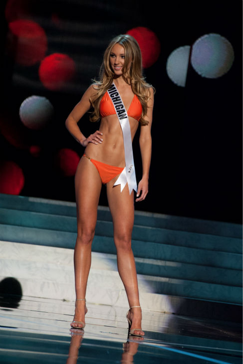 "<div class=""meta image-caption""><div class=""origin-logo origin-image ""><span></span></div><span class=""caption-text"">Miss Michigan USA 2013, Jaclyn Schultz, 24, competes in her ViX Paula Hermanny swimsuit and Chinese Laundry shoes during the 2013 MISS USA Competition Preliminary Show at PH Live in Las Vegas, Nevada on Wednesday, June 12, 2013.   (Patrick Prather / Miss Universe Organization L.P.)</span></div>"