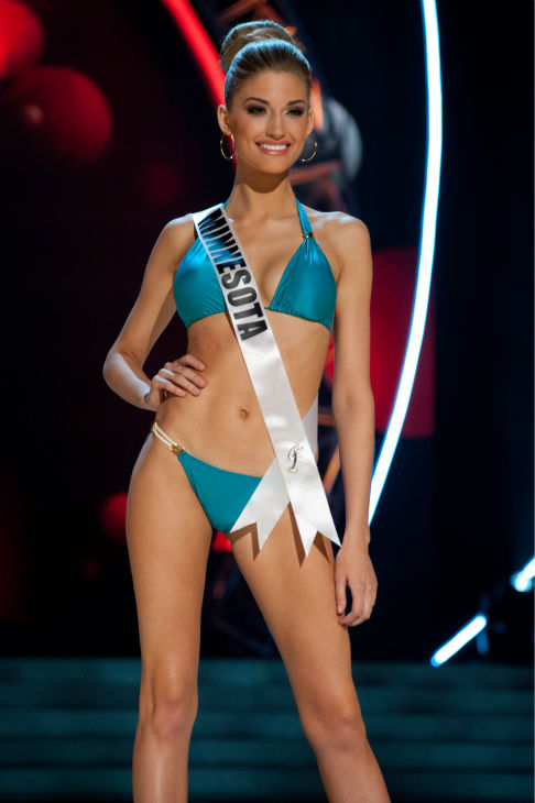 "<div class=""meta ""><span class=""caption-text "">Miss Minnesota USA 2013, Danielle Hooper, 21, competes in her ViX Paula Hermanny swimsuit and Chinese Laundry shoes during the 2013 MISS USA Competition Preliminary Show at PH Live in Las Vegas, Nevada on Wednesday, June 12, 2013.   (Patrick Prather / Miss Universe Organization L.P.)</span></div>"