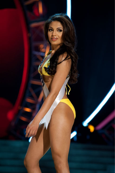 "<div class=""meta ""><span class=""caption-text "">Miss Mississippi USA 2013, Paromita Mitra, 21, competes in her ViX Paula Hermanny swimsuit and Chinese Laundry shoes during the 2013 MISS USA Competition Preliminary Show at PH Live in Las Vegas, Nevada on Wednesday, June 12, 2013.   (Patrick Prather / Miss Universe Organization L.P.)</span></div>"