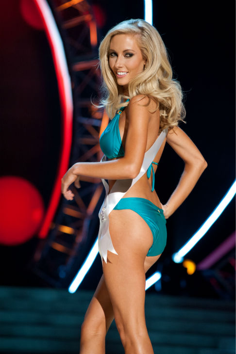 "<div class=""meta ""><span class=""caption-text "">Miss Nebraska USA 2013, Ellie Lorenzen, 22, competes in her ViX Paula Hermanny swimsuit and Chinese Laundry shoes during the 2013 MISS USA Competition Preliminary Show at PH Live in Las Vegas, Nevada on Wednesday, June 12, 2013.   (Patrick Prather / Miss Universe Organization L.P.)</span></div>"