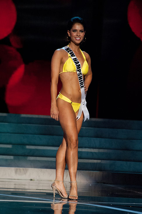 Miss New Hampshire USA 2013, Amber Faucher, 22, competes in her ViX Paula Hermanny swimsuit and Chinese Laundry shoes during the 2013 MISS USA Competition Preliminary Show at PH Live in Las Vegas, Nevada on Wednesday, June 12, 2013.   <span class=meta>(Patrick Prather &#47; Miss Universe Organization L.P.)</span>