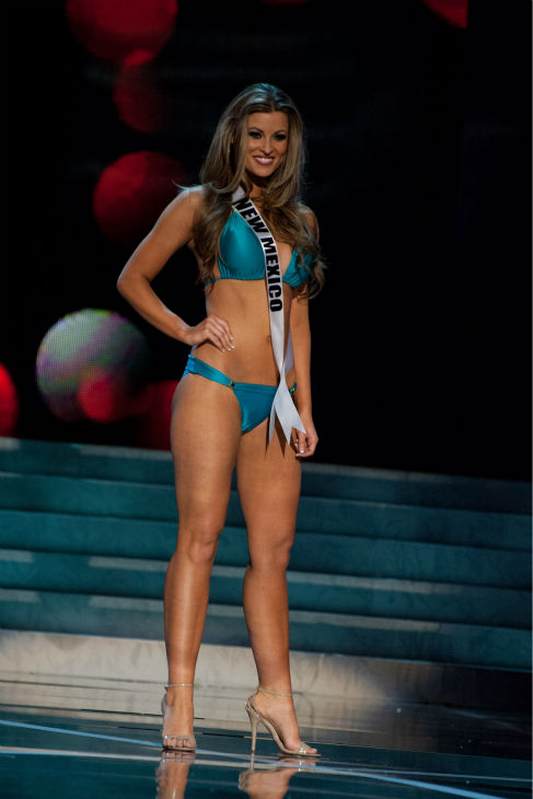 "<div class=""meta image-caption""><div class=""origin-logo origin-image ""><span></span></div><span class=""caption-text"">Miss New Mexico USA 2013, Kathleen Danzer, 24, competes in her ViX Paula Hermanny swimsuit and Chinese Laundry shoes during the 2013 MISS USA Competition Preliminary Show at PH Live in Las Vegas, Nevada on Wednesday, June 12, 2013.    (Patrick Prather / Miss Universe Organization L.P.)</span></div>"