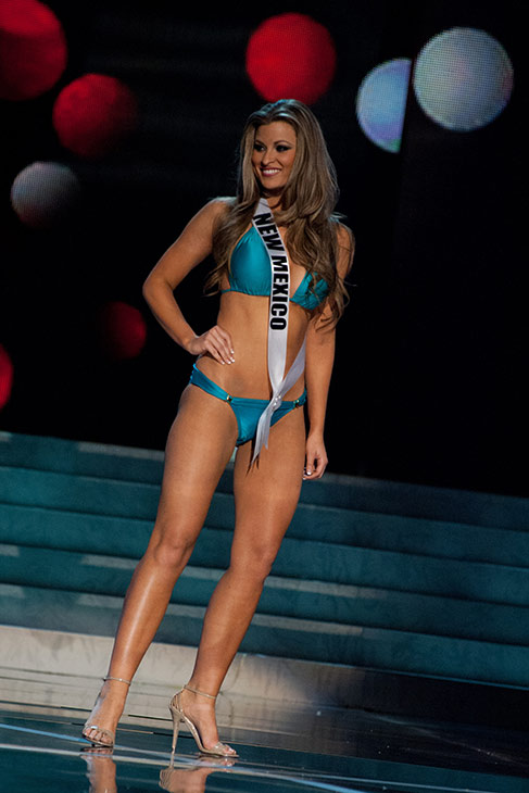 Miss New Mexico USA 2013, Kathleen Danzer, 24, competes in her ViX Paula Hermanny swimsuit and Chinese Laundry shoes during the 2013 MISS USA Competition Preliminary Show at PH Live in Las Vegas, Nevada on Wednesday, June 12, 2013.    <span class=meta>(Patrick Prather &#47; Miss Universe Organization L.P.)</span>