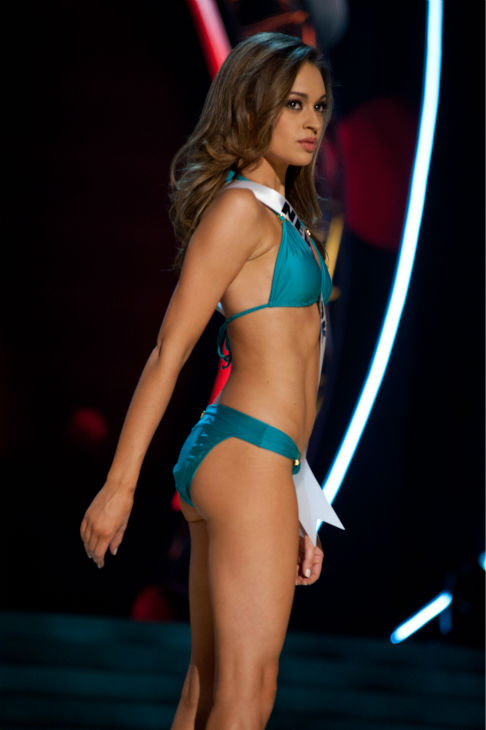 "<div class=""meta ""><span class=""caption-text "">Miss New York USA 2013, Joanne Nosuchinsky, 24, competes in her ViX Paula Hermanny swimsuit and Chinese Laundry shoes during the 2013 MISS USA Competition Preliminary Show at PH Live in Las Vegas, Nevada on Wednesday, June 12, 2013. (Patrick Prather / Miss Universe Organization L.P.)</span></div>"