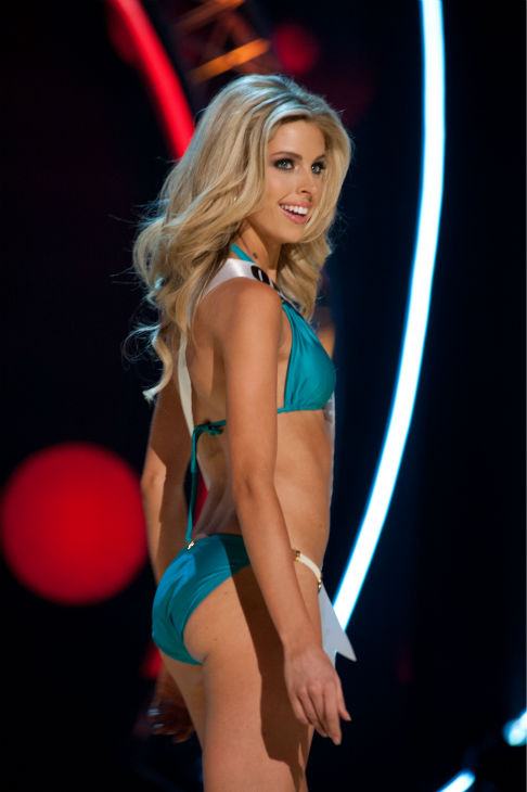 Miss Oklahoma USA 2013, Makenzie Muse, 21, competes in her ViX Paula Hermanny swimsuit and Chinese Laundry shoes during the 2013 MISS USA Competition Preliminary Show at PH Live in Las Vegas, Nevada on Wednesday, June 12, 2013. <span class=meta>(Patrick Prather &#47; Miss Universe Organization L.P.)</span>