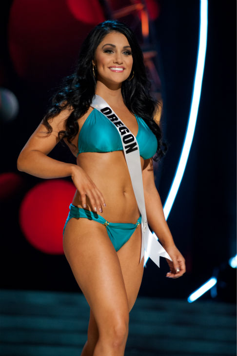 "<div class=""meta ""><span class=""caption-text "">Miss Oregon USA 2013, Gabrielle Neilan, 22, competes in her ViX Paula Hermanny swimsuit and Chinese Laundry shoes during the 2013 MISS USA Competition Preliminary Show at PH Live in Las Vegas, Nevada on Wednesday, June 12, 2013. (Patrick Prather / Miss Universe Organization L.P.)</span></div>"