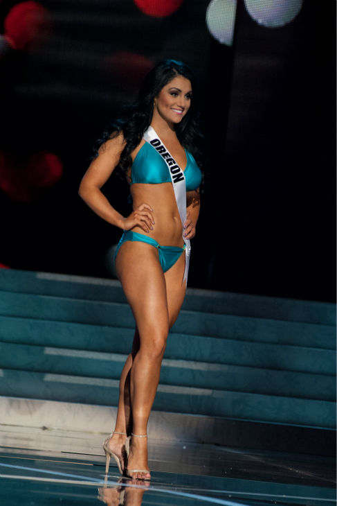 "<div class=""meta image-caption""><div class=""origin-logo origin-image ""><span></span></div><span class=""caption-text"">Miss Oregon USA 2013, Gabrielle Neilan, 22, competes in her ViX Paula Hermanny swimsuit and Chinese Laundry shoes during the 2013 MISS USA Competition Preliminary Show at PH Live in Las Vegas, Nevada on Wednesday, June 12, 2013. (Patrick Prather / Miss Universe Organization L.P.)</span></div>"