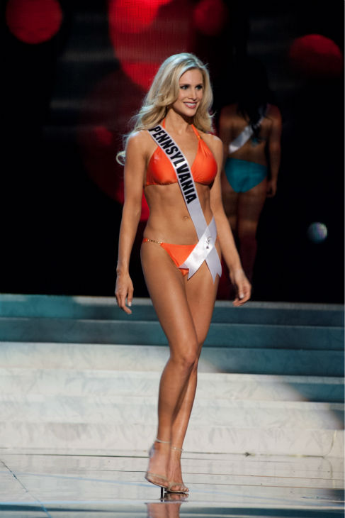 Miss Pennsylvania USA 2013, Jessica Billings, 26, competes in her ViX Paula Hermanny swimsuit and Chinese Laundry shoes during the 2013 MISS USA Competition Preliminary Show at PH Live in Las Vegas, Nevada on Wednesday, June 12, 2013.  <span class=meta>(Patrick Prather &#47; Miss Universe Organization L.P.)</span>