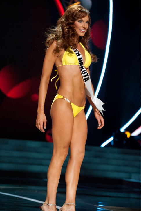 "<div class=""meta ""><span class=""caption-text "">Miss South Dakota USA 2013, Jessica Albers, 27, competes in her ViX Paula Hermanny swimsuit and Chinese Laundry shoes during the 2013 MISS USA Competition Preliminary Show at PH Live in Las Vegas, Nevada on Wednesday, June 12, 2013. (Patrick Prather / Miss Universe Organization L.P.)</span></div>"