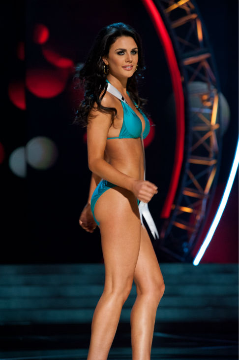 Miss Texas USA 2013, Ali Nugent, 20, competes in her ViX Paula Hermanny swimsuit and Chinese Laundry shoes during the 2013 MISS USA Competition Preliminary Show at PH Live in Las Vegas, Nevada on Wednesday, June 12, 2013. <span class=meta>(Patrick Prather &#47; Miss Universe Organization L.P.)</span>