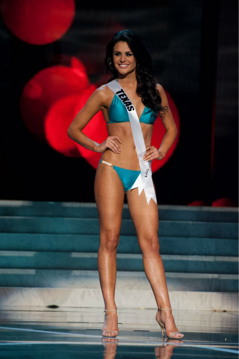 "<div class=""meta image-caption""><div class=""origin-logo origin-image ""><span></span></div><span class=""caption-text"">Miss Texas USA 2013, Ali Nugent, 20, competes in her ViX Paula Hermanny swimsuit and Chinese Laundry shoes during the 2013 MISS USA Competition Preliminary Show at PH Live in Las Vegas, Nevada on Wednesday, June 12, 2013. (Patrick Prather / Miss Universe Organization L.P.)</span></div>"