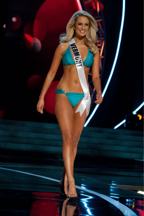 "<div class=""meta image-caption""><div class=""origin-logo origin-image ""><span></span></div><span class=""caption-text"">Miss Vermont USA 2013, Sarah Westbrook, 25, competes in her ViX Paula Hermanny swimsuit and Chinese Laundry shoes during the 2013 MISS USA Competition Preliminary Show at PH Live in Las Vegas, Nevada on Wednesday, June 12, 2013. (Patrick Prather / Miss Universe Organization L.P.)</span></div>"