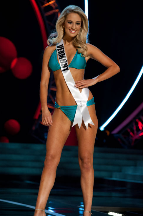 Miss Vermont USA 2013, Sarah Westbrook, 25, competes in her ViX Paula Hermanny swimsuit and Chinese Laundry shoes during the 2013 MISS USA Competition Preliminary Show at PH Live in Las Vegas, Nevada on Wednesday, June 12, 2013. <span class=meta>(Patrick Prather &#47; Miss Universe Organization L.P.)</span>