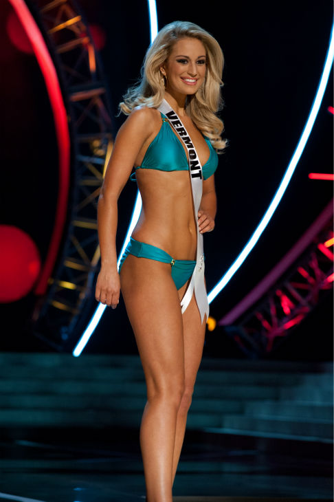 "<div class=""meta ""><span class=""caption-text "">Miss Vermont USA 2013, Sarah Westbrook, 25, competes in her ViX Paula Hermanny swimsuit and Chinese Laundry shoes during the 2013 MISS USA Competition Preliminary Show at PH Live in Las Vegas, Nevada on Wednesday, June 12, 2013. (Patrick Prather / Miss Universe Organization L.P.)</span></div>"