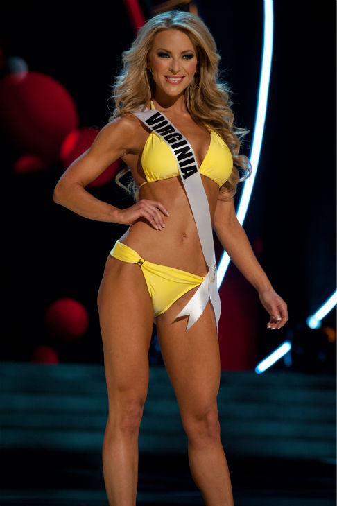 "<div class=""meta ""><span class=""caption-text "">Miss Virginia USA 2013, Shannon McAnally, 25, competes in her ViX Paula Hermanny swimsuit and Chinese Laundry shoes during the 2013 MISS USA Competition Preliminary Show at PH Live in Las Vegas, Nevada on Wednesday, June 12, 2013. (Patrick Prather / Miss Universe Organization L.P.)</span></div>"