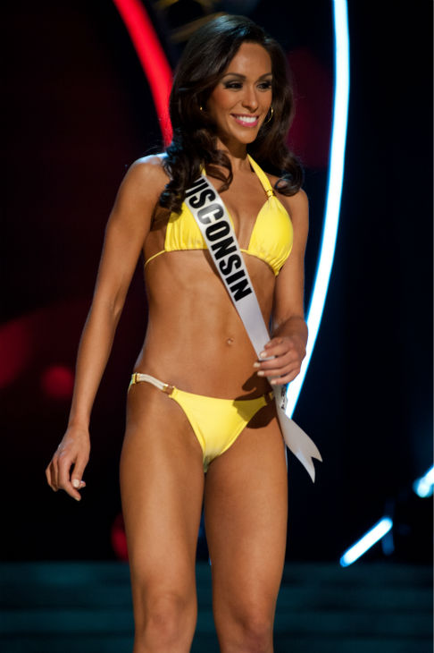 "<div class=""meta ""><span class=""caption-text "">Miss Wisconsin USA 2013, Chrissy Zamora, 26, competes in her ViX Paula Hermanny swimsuit and Chinese Laundry shoes during the 2013 MISS USA Competition Preliminary Show at PH Live in Las Vegas, Nevada on Wednesday, June 12, 2013. (Patrick Prather / Miss Universe Organization L.P.)</span></div>"