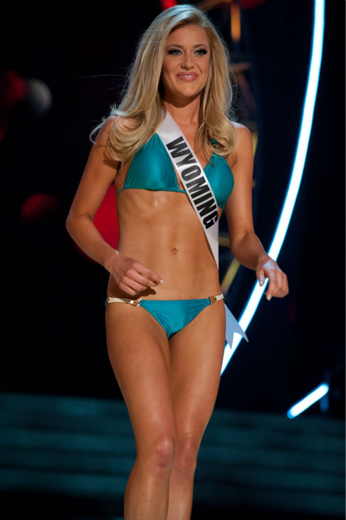 "<div class=""meta image-caption""><div class=""origin-logo origin-image ""><span></span></div><span class=""caption-text"">Miss Wyoming USA 2013, Courtney Gifford, 24, competes in her ViX Paula Hermanny swimsuit and Chinese Laundry shoes during the 2013 MISS USA Competition Preliminary Show at PH Live in Las Vegas, Nevada on Wednesday, June 12, 2013. (Patrick Prather / Miss Universe Organization L.P.)</span></div>"