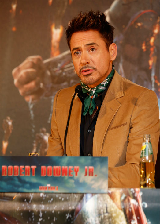 Robert Downey Jr. attends the &#39;Iron Man 3&#39; photo call at Hotel Bayerischer Hof in Munich, Germany on April 12, 2013. <span class=meta>(Walt Disney Studios)</span>