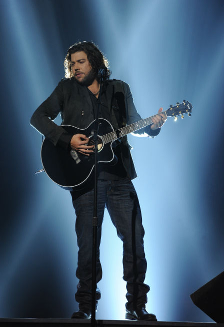 Josh Krajcik performs Etta James' 1961 song 'At Last' on 'The X Factor' pre-finale on Dec. 21, 2011 on FOX.