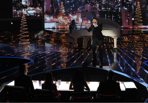 Chris Rene performs on 'The X Factor' finale on...