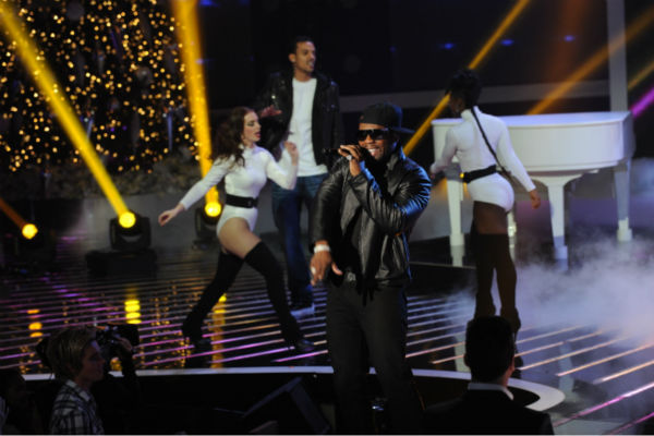 50 Cent performs on 'The X Factor' finale on...