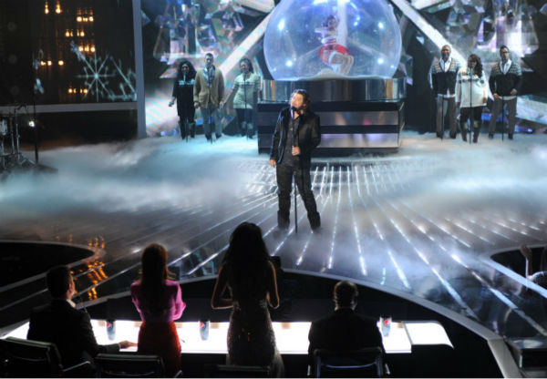 Josh Krajcik performs on 'The X Factor' finale on Dec. 22, 2011.