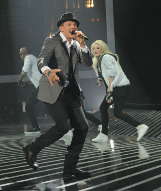 "<div class=""meta image-caption""><div class=""origin-logo origin-image ""><span></span></div><span class=""caption-text"">Chris Rene performs his original song 'Young Homie' on 'The X Factor' pre-finale on Dec. 21, 2011 on FOX.  (Ray Mickshaw / FOX)</span></div>"