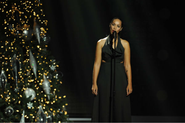 Former UK 'X Factor' winner Leona Lewis performs...