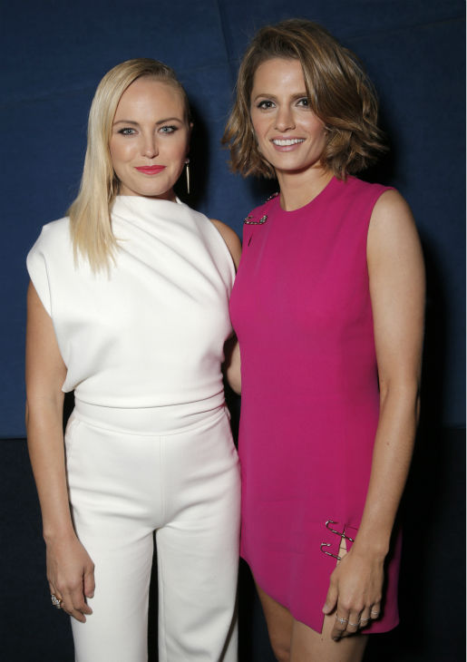 Malin Akerman and Stana Katic attend the West Coast premiere of &#39;CBGB,&#39; in which they play Blondie&#39;s Debbie Harry and rock singer Genya Ravan, at the ArcLight Hollywood theater in Los Angeles on Tuesday, Oct. 1, 2013. The event was sponsored by Ciroc. <span class=meta>(Todd Williamson &#47; Invision for Ciroc &#47; AP)</span>
