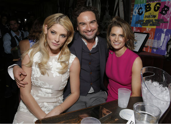 Ashley Greene, Johnny Galecki and Stana Katic attend the after party for the West Coast premiere of the film &#39;CBGB,&#39; sponsored by Ciroc, at Hemingway&#39;s Lounge in Los Angeles on Tuesday, Oct. 1, 2013. <span class=meta>(Todd Williamson &#47; Invision for Ciroc &#47; AP)</span>